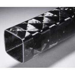 Poutre carbone carrée 50x50mm - www.tubecarbone.com
