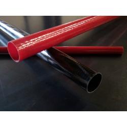 Tube verre 85x90x2300mm Technique NOIR