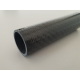 Tube carbone 100x102mm Drapage Brut