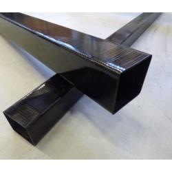Poutre carbone carrée 50x5x900mm - www.tubecarbone.com