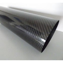 Carbon tube 120x125mm Wrapped non polished