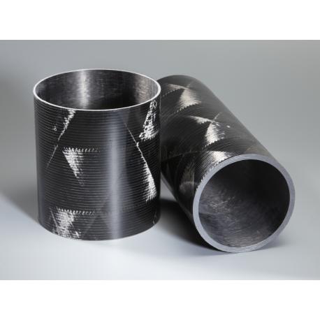 Tube carbone 100x102mm Technique - www.tubecarbone.com