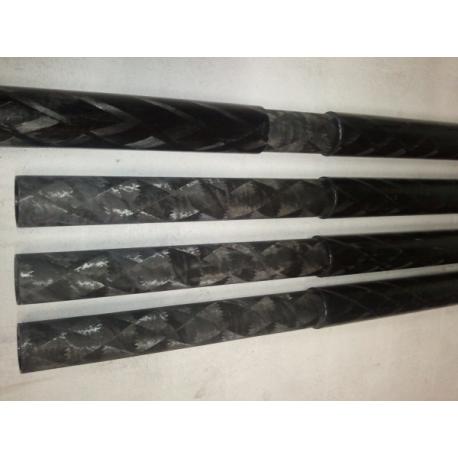 Perche carbone 22x25mm Standard - www.tubecarbone.com